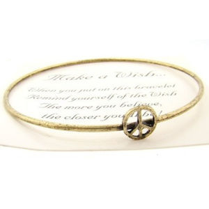 Jewelry - Make a Wish Antiqued Finish Bracelet - (Peace)